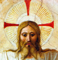Face of christ closeup from fra angelico painting a reproduction original painting is located in convento di san marco florence Royalty Free Stock Photography