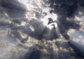 The face of Christ in the sky Royalty Free Stock Photo