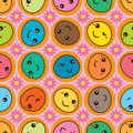 Face cute look rotate seamless pattern