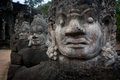 Face of Demon statues at Angkor temple Stock Photos