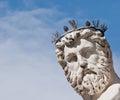 Face detail of neptune s statue in fountain in piazza della signoria florence italy Stock Photo