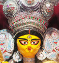 Face of Durga Idol- Creative Art Royalty Free Stock Photo