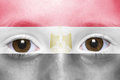 Face with egyptian flag Royalty Free Stock Photo