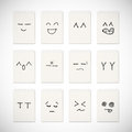 Face emotion drawing Royalty Free Stock Photos