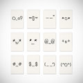 Face emotion drawing Royalty Free Stock Photo