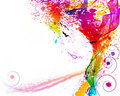A face f�mea consiste elemento da granja do ��of Foto de Stock