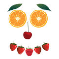 Face of fruit Royalty Free Stock Photo