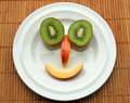 Face from fruits Stock Photo