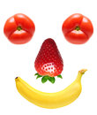 Face from fruits Stock Photos