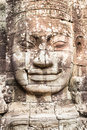 Face of god the in bayon temple cambodia Royalty Free Stock Images