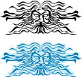 Face god of the seas, Poseidon or Neptun. Royalty Free Stock Image