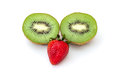 Face of kiwi slide fruit isolated on white background Royalty Free Stock Image