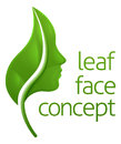 Face Leaf Concept Royalty Free Stock Photo