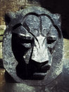 The face of a lion carved in stone of edinburgh castle scotland photo taken Royalty Free Stock Image