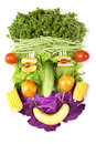 Face made of fruits and vegetables Stock Photography