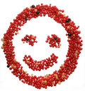 Face made out of different currants Royalty Free Stock Photos