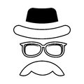 Face male hipster style