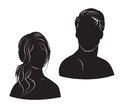 Face man and woman on white background this is file of eps format Royalty Free Stock Photo