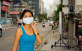 Face mask in bangkok Royalty Free Stock Photo