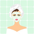 Face Mask Spa Woman Royalty Free Stock Images