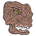Face monster creative design of Royalty Free Stock Photo