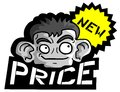 Face and new price creative design of Stock Image