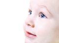 Face of nice baby close up Royalty Free Stock Photo