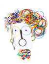 Face from office supplies Royalty Free Stock Photo