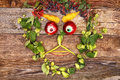 Face out of fruits and plants funny happy various Royalty Free Stock Images