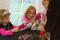 Face paint and crafts Royalty Free Stock Photo