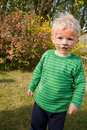 Face paint tiger boy child Royalty Free Stock Photos