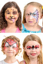Face-Painting Royalty Free Stock Photo