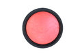 Face powder blush isolated on white Royalty Free Stock Photo