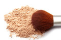 Face powder and brush Royalty Free Stock Photo