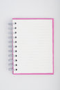 Face purple notebook for background and text Stock Image