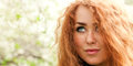 Face red-haired woman Royalty Free Stock Photo
