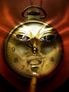 Face of time abstract composite Royalty Free Stock Images