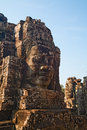 Face Towers of The Bayon, Angkor Thom, Cambodia Stock Photography