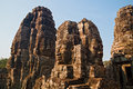 Face Towers of The Bayon, Angkor Thom, Cambodia Royalty Free Stock Image