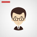 Face of young man. Businessman avatar.