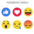 Facebook emoji with vector file. Smiley faces.