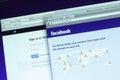 Facebook en de hoofdwebpagina van twitter Royalty-vrije Stock Afbeeldingen