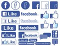 Facebook icon Royalty Free Stock Photo