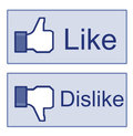 Facebook Like Dislike Thumb Up Sign Royalty Free Stock Photo