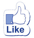 Facebook like an illustration of thumb up Royalty Free Stock Images