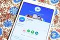 Facebook messenger app Royalty Free Stock Photo