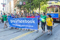 Facebook in san francisco gay pride june ceo mark zuckerberg marched with employees s parade on june Royalty Free Stock Photos