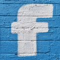Facebook Street Art Royalty Free Stock Photo