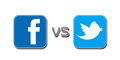 Facebook v Twitter Royalty Free Stock Images