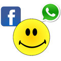 Facebook whatsapp Stock Foto's